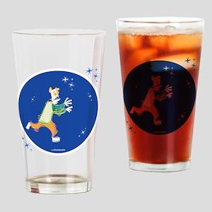 Clowny Mime Bear [blue 3] Drinking Glass